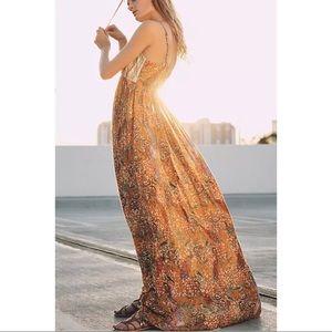 Anthropologie Raga Parkland Maxi Dress